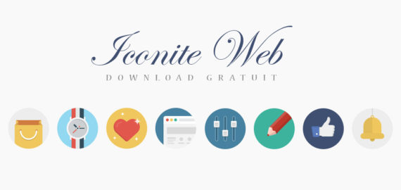 Iconite Flat – 2 seturi Flat + Light Gradient (PNG, PSD, SVG)