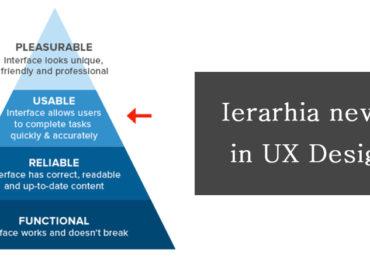 Ierarhia nevoilor in UX Design