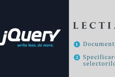 Curs jQuery – Lectia 3 – Instructiunea document ready si specificarea selectorilor