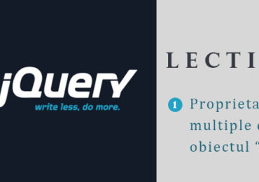 "Curs jQuery – lectia 5 – Proprietati multiple cu functia .css utilizand un obiect ""literal"""