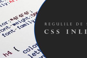 Scrierea regulilor de stil CSS inline