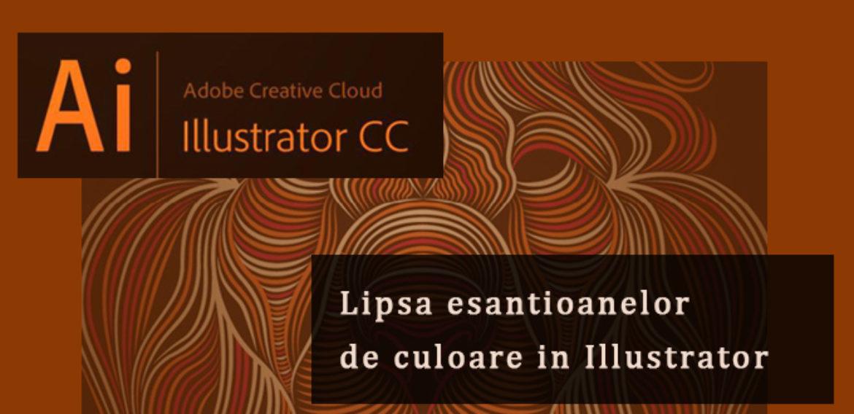 Documentele Adobe Illustrator in care lipsesc esantioanele de culoare