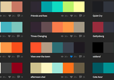 Adobe Color CC – palete de culori