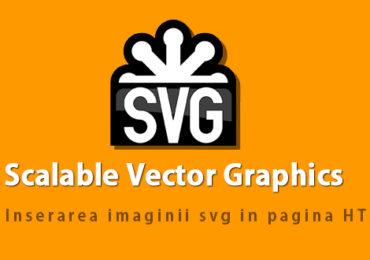 Inserarea unei imagini SVG intr-un document HTML