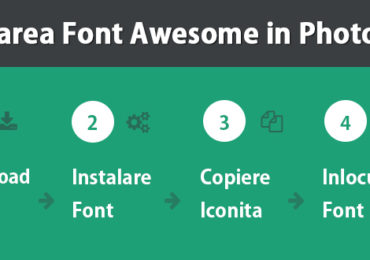 Utilizarea Font Awesome in programele grafice Adobe Photoshop & Illustrator