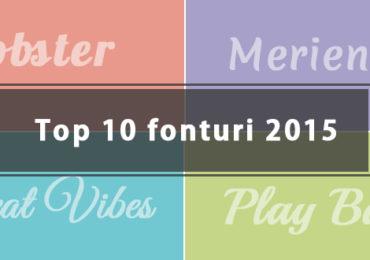 Top 10 fonturi web gratuite pentru titluri in 2015