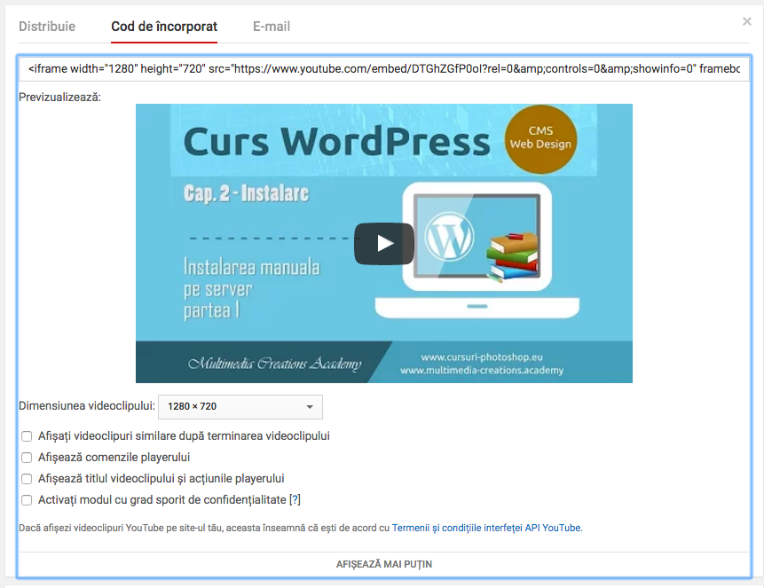 cod-incorporare-videoclip-youtube-in-wordpress