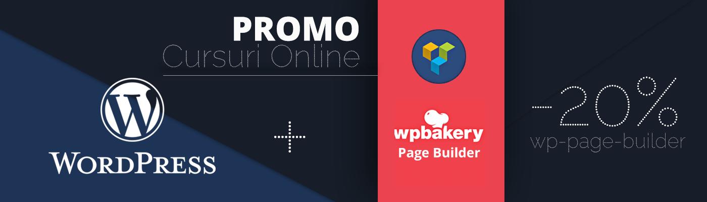 Promo curs online WordPress