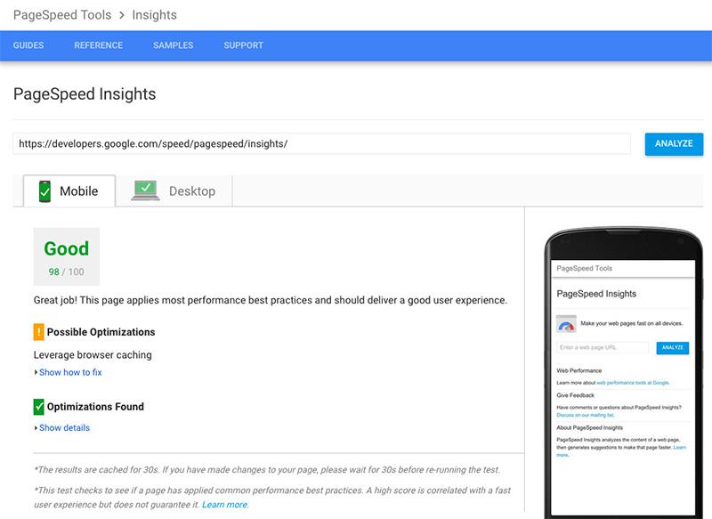 Google PageSpeed - testare viteza incarcare site web