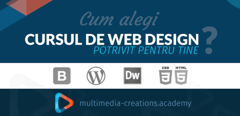 Ce curs de Web Design sa alegi?
