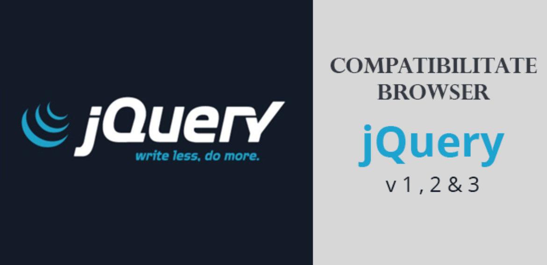Diferentele dintre versiunile principale ale jQuery